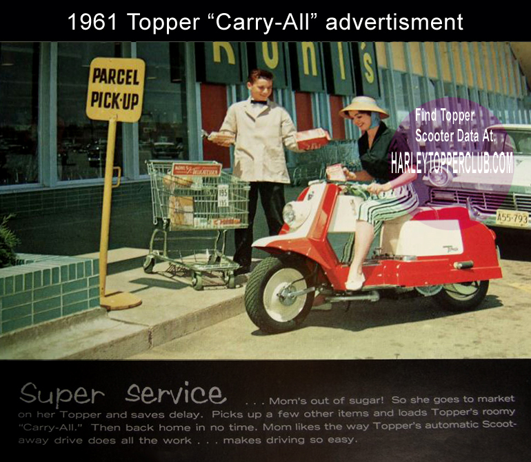 1961 Harley Topper Carry-all ad