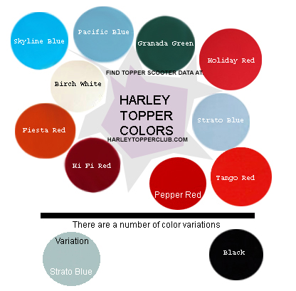 Harley Topper Colors