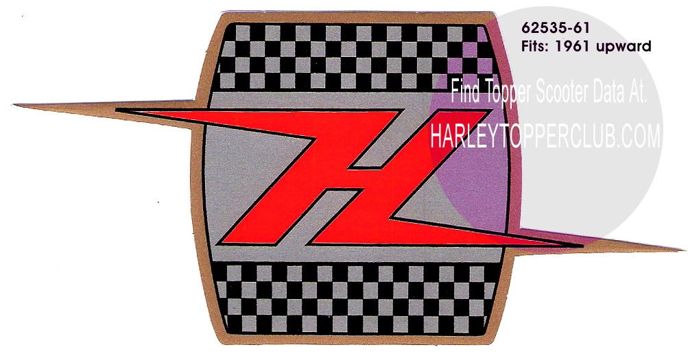 Harley Topper H decal 62535-61