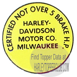 Harley Topper Junior Licensing Law Sticker