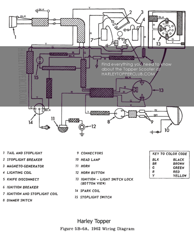 1962to1965 harley topper electrical sytems harley generator wiring diagram at crackthecode.co