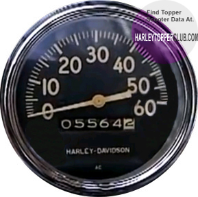 Harley Topper Speedometer fits 1962 to 1965 number 67010-59A